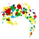 Ink splashes. Color ink splashes. Vector illustration Stock Photo