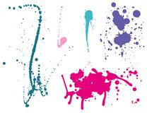 Ink splashes Color Stock Image