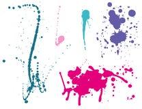 Ink splashes Color Stock Image