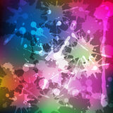 Ink splashes. Rainbow colored blot background. Vector illustration Royalty Free Stock Photos