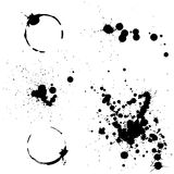 Ink splashes Royalty Free Stock Photography