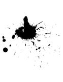 Ink splat. For background, blood stain or brush Royalty Free Stock Image