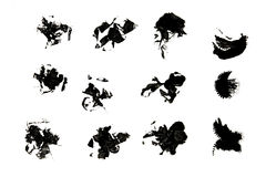Ink splat. On white background Stock Photography