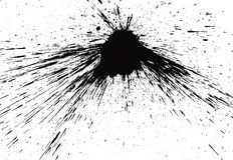 Ink splat. Real black splat on white background Royalty Free Stock Photography