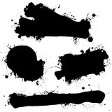 Ink splat black blank Stock Photos
