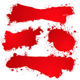 Ink splat blood blank Stock Images