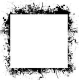 Ink splat border square Royalty Free Stock Photos