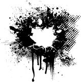 Ink splat overlay. Halftone and ink splat abstract image with room for your own text Royalty Free Stock Photography