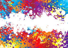 Ink splat rainbow white Royalty Free Stock Image