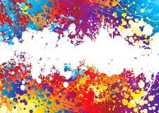 Ink splat rainbow white Royalty Free Stock Image