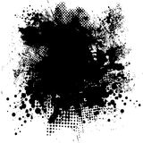 Ink splat round. Illustrated black and white ink splat with room for your own text Stock Images