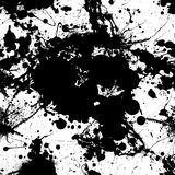 Ink splat tile black Royalty Free Stock Image