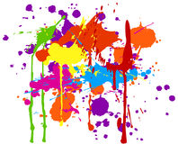 Ink splats. Multicolored ink splats on white background royalty free illustration