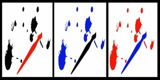Ink splats. With not their brushes Royalty Free Stock Image