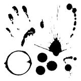 Ink splats and prints Royalty Free Stock Image
