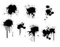 Ink splatter Stock Photo