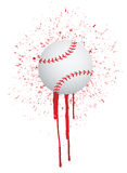 Ink splatter baseball Stock Photography