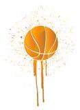 Ink splatter basketball Stock Image