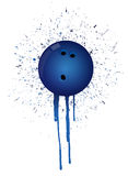 Ink splatter bowling Royalty Free Stock Images