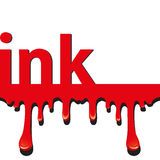 Ink splatter concept Stock Image
