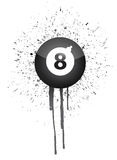 Ink splatter eight ball Royalty Free Stock Photo