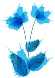 Ink splatter flowers illustration Stock Photo