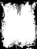 Ink splatter grunge frame. Vector illustration of a grunge ink splatter background frame Stock Photography