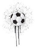 Ink splatter soccer ball Stock Photography