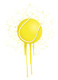 Ink splatter tennis Stock Photo