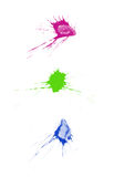 Ink splatters. Ink splats grouped and to be used as brushes, paint splatters, backgrounds or blood stains etc Stock Images