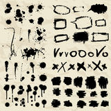 Ink splatters. Grunge design elements collection. Royalty Free Stock Photos