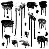 Ink splatters. Grunge design elements collection. Royalty Free Stock Images