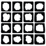 Ink splatters. Grunge design elements collection. Stock Images
