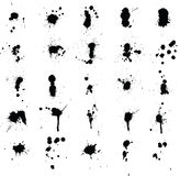 Ink Splatters. 25 high detail paint splats great for spray paint or dripped paint effects Royalty Free Stock Image