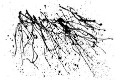 Ink spot blotch on white background Stock Photo