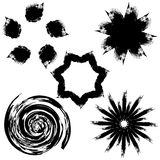Ink spots ornaments Stock Photography