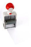 Ink stamp over white paper Stock Image