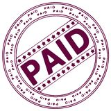 Ink stamp PAID Royalty Free Stock Photo
