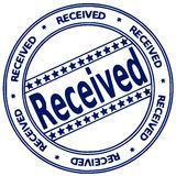 Ink stamp RECEIVED Royalty Free Stock Image