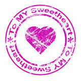 Ink stamp: to ny sweetheart Stock Photography