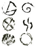 Ink symbols set Royalty Free Stock Photo