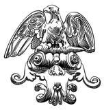 Ink teckningen av designbeståndsdelen av Lviv (Ukraina) Royaltyfria Bilder