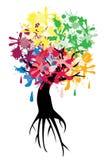 Ink tree Stock Image