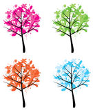 Ink trees Royalty Free Stock Photo