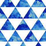 Ink triangles seamless pattern. Modern hipster seamless pattern. Royalty Free Stock Image
