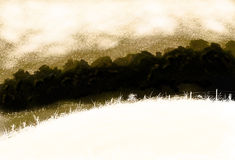 Ink wash landscape Royalty Free Stock Image