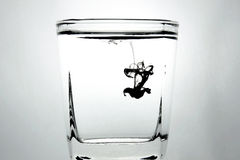 Ink in the water Royalty Free Stock Image