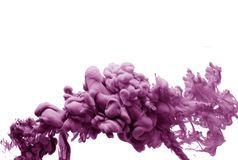 Ink in water pink mauve smoke acrylic art colorful abstract background isolated. Ink in water blau smoke acrylic art colorful abstract background i stock photography