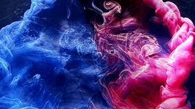 Ink water explosion harmony balance blue pink
