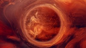 Ink water swirl magic firework orange sparks. Ink water swirl. Magic firework. Orange sparks smoke circle motion stock footage